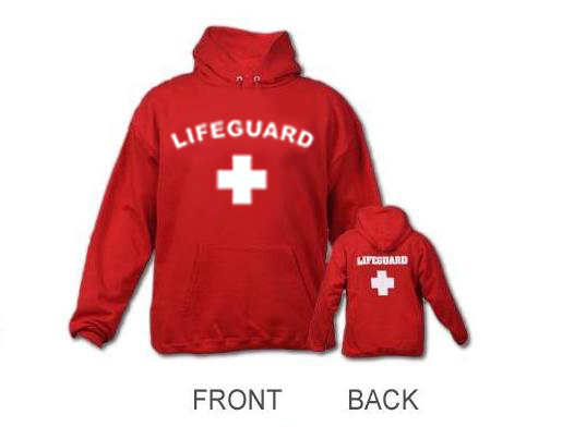 HOODIE LIFEGUARD PRINTED ARCH SLEEVES HOOD on The Hunt